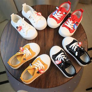 小宝宝夏季儿童帆布鞋饼干女童鞋
