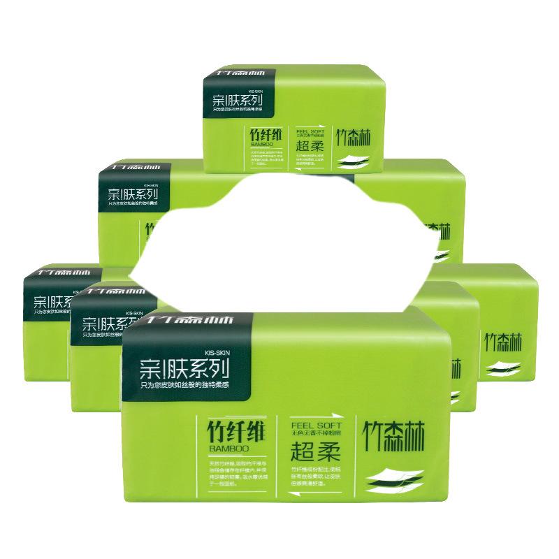 抽纸整箱30包竹森林3层抽取式面巾卫生纸巾家用餐巾纸家庭装D