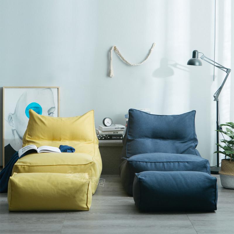 日式懒人沙发椅ins布艺简约躺椅