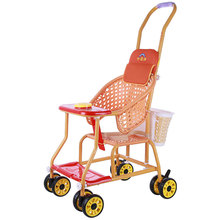 Grandma bridge rattan chair baby stroller in summer