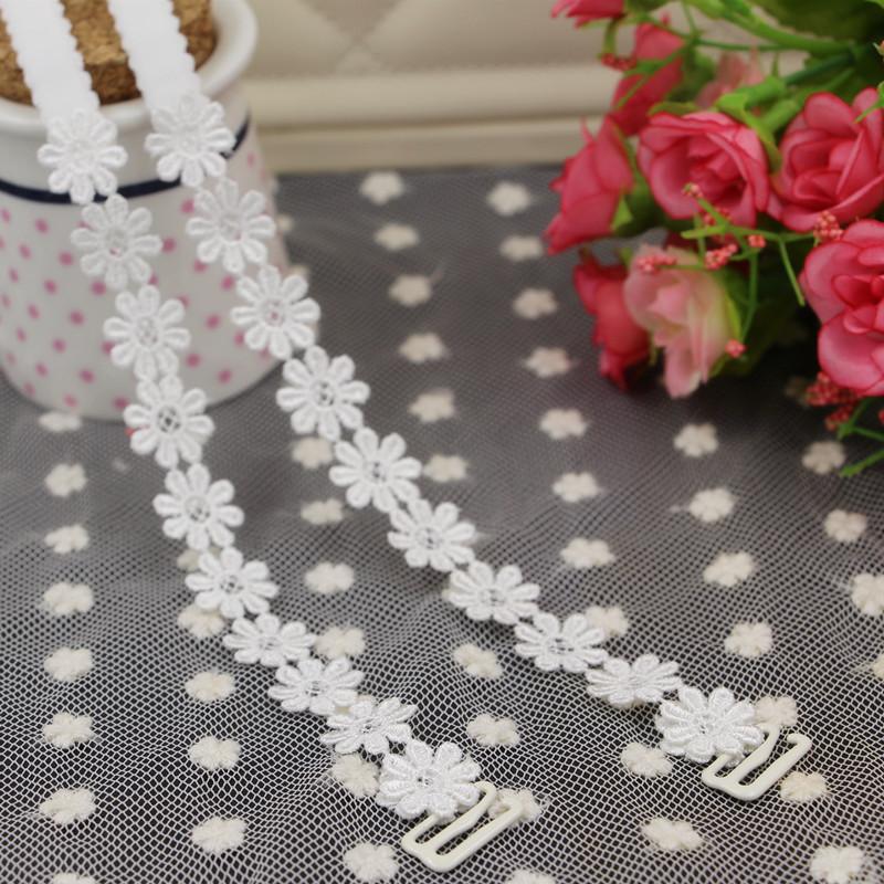 韩国肩带文胸带内衣带镂空蕾丝花朵透明隐形肩带花边交叉美背挂脖