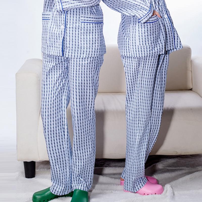 病号服女纯棉裤子易脱穿隔离服病员服男病人服长袖睡衣款医院通用