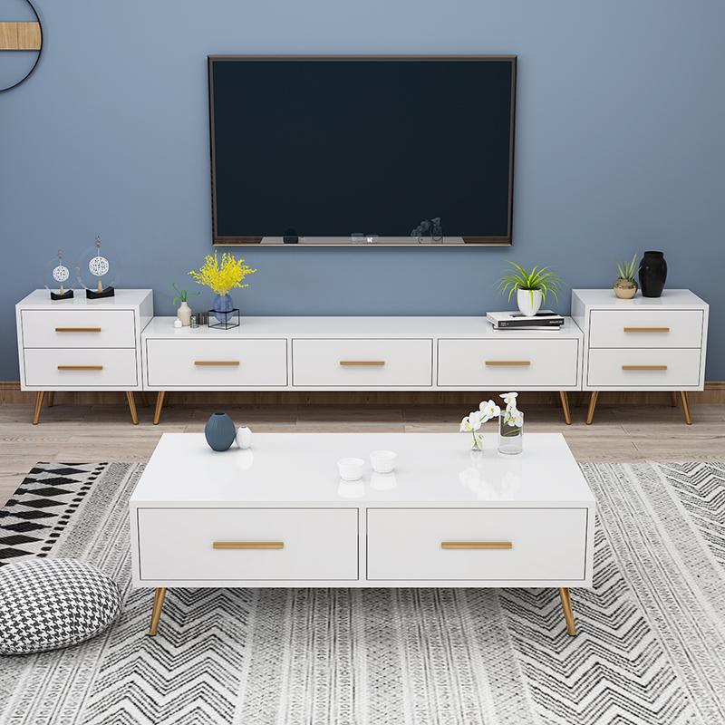 电视柜茶几组合墙柜套装北欧风格后现代简约轻奢小户型客厅卧室