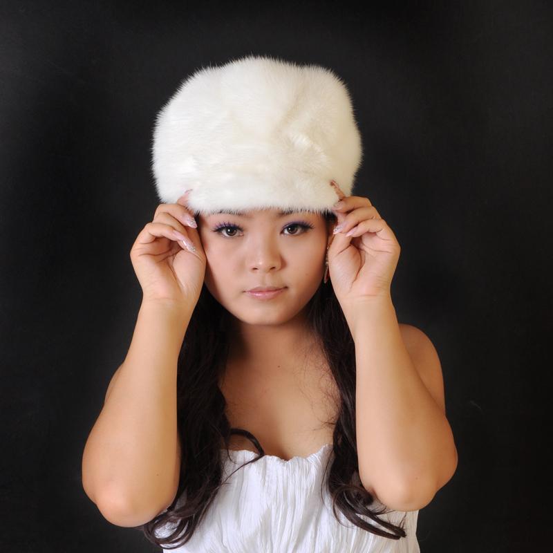 欧洲站新款貂皮帽子经典整皮制裘皮皮草女士鸭舌帽冬季热销爆款