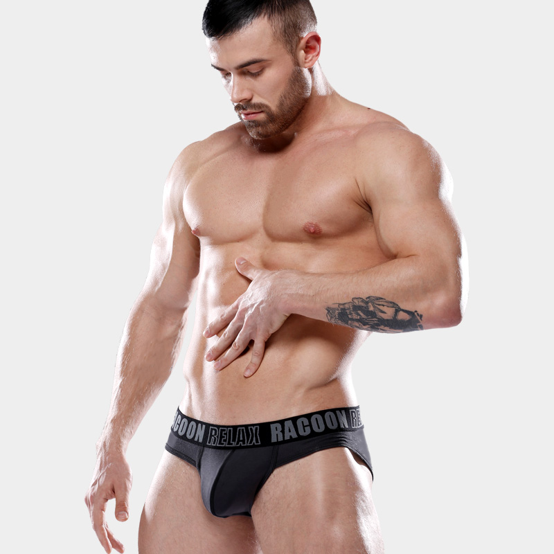 Racoon magic bear and sexy mens home fitness triangle modal cotton sports comfortable breathable underwear