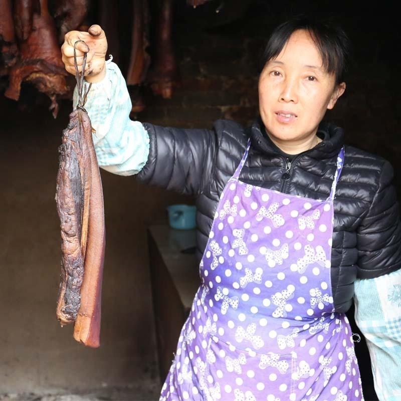贵州后腿腊肉农家自制烟熏正宗湖南腌肉湘西熏肉四川特产土猪咸肉