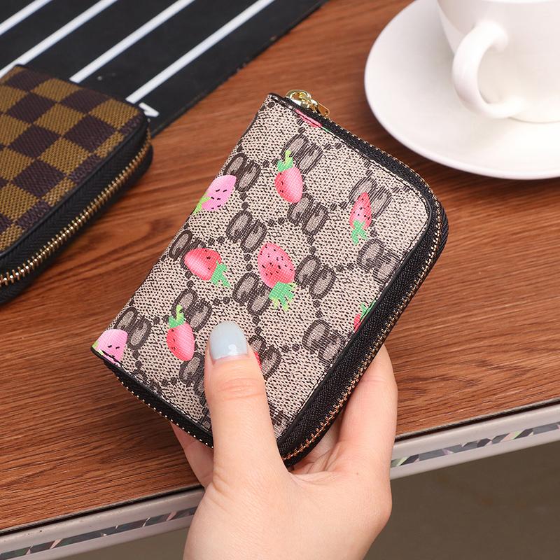 新款欧美拉链卡包女式男士风琴卡夹信用卡套小零钱包驾驶证套卡潮