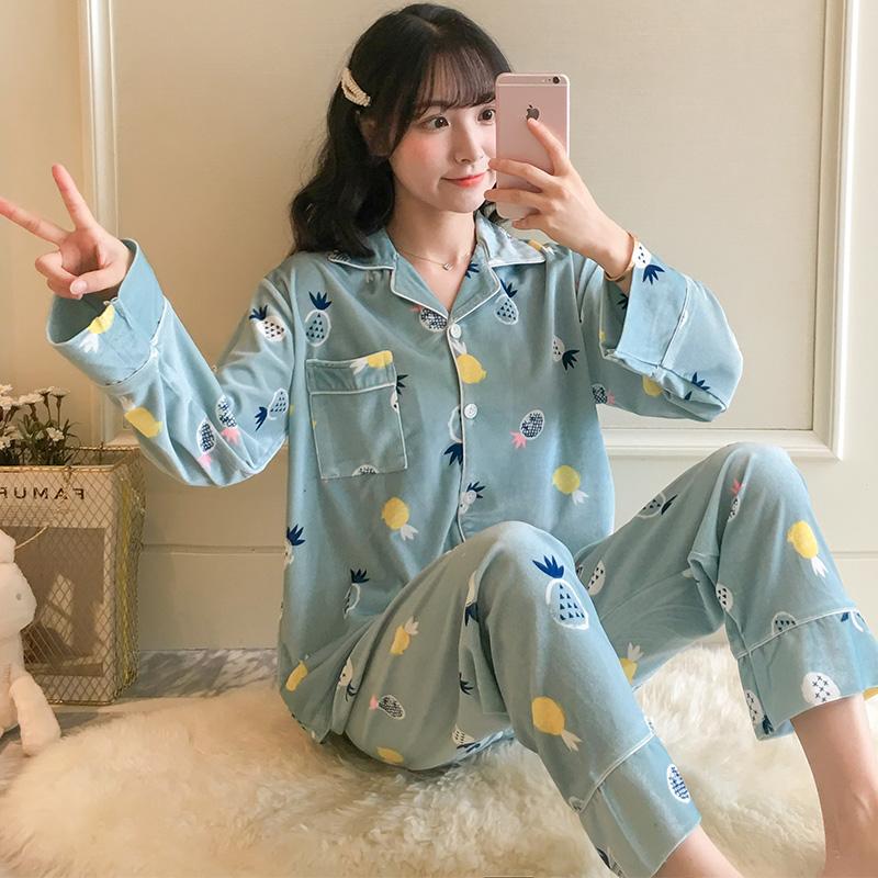 睡衣女秋冬款长袖金丝绒春秋季韩版学生可外穿家居服两件套装6897