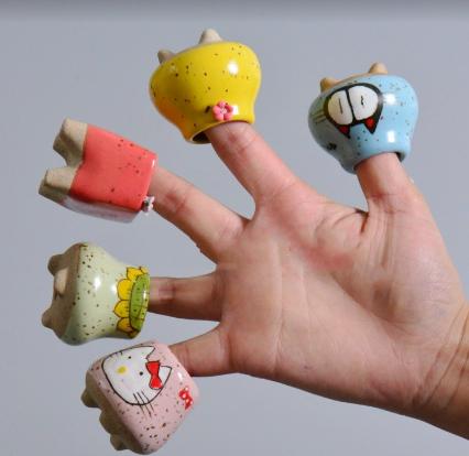 迷你手绘卡通陶瓷花盆特价粗陶罐韩国多肉植物控养拇指盆
