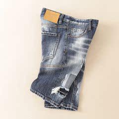 钱塘1213 新款男士修身小脚牛仔短裤 D8015 P140