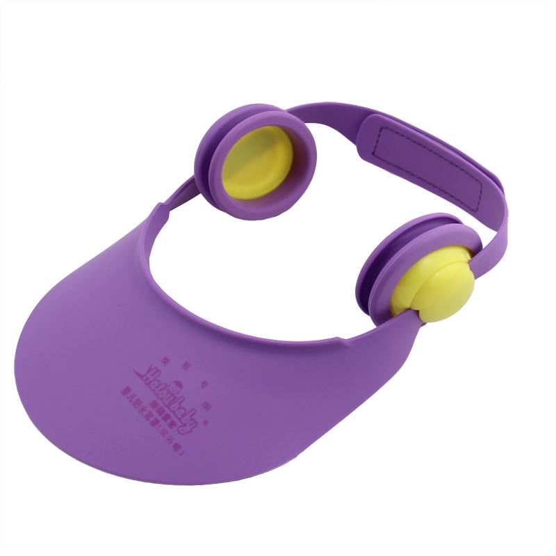 寶寶防水耳罩耳套 洗發帽嬰兒浴帽洗頭帽可調節兒童洗澡帽沐浴帽