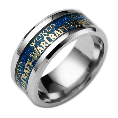 买一送一送同款魔兽世界周边魔兽戒指钛钢指环动漫游戏周边情侣戒