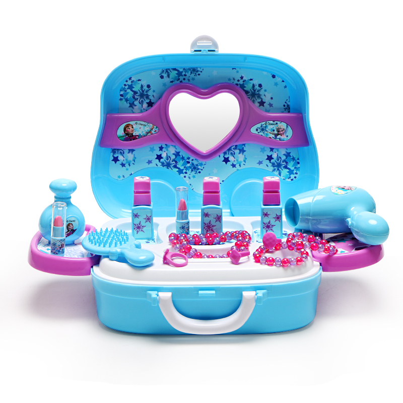 Disney children's family toy girl cosmetics set non toxic Dresser Box snow and ice 2 Princess