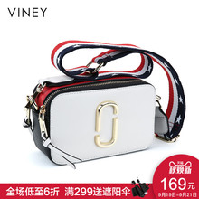Viney 2019 New Kind of Women's Bag Leather Mini Camera Bag Wide Shoulder Belt Tide 2019 Baituan Slant Bag