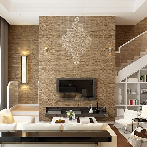 旗航壁纸纯色墙纸客厅现代简约奥斯龙素色墙纸卧室电视背...