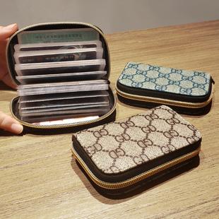超薄风琴小巧卡包女式证件位卡袋卡片包卡套大容量零钱包男士卡夹图片