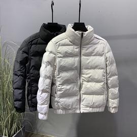 棉衣男士新款青年立领保暖棉服冬装加厚潮牌拼接纯色修身短款外套