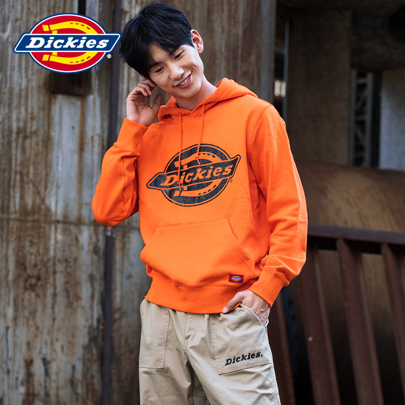 Dickies logo printed hooded sweater men's autumn new arrival fleece top DK008156