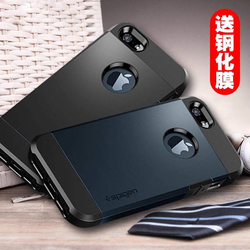 全包苹果4s/5s/se手机壳硅胶防摔软iPhone4保护套简约男5c外壳黑5