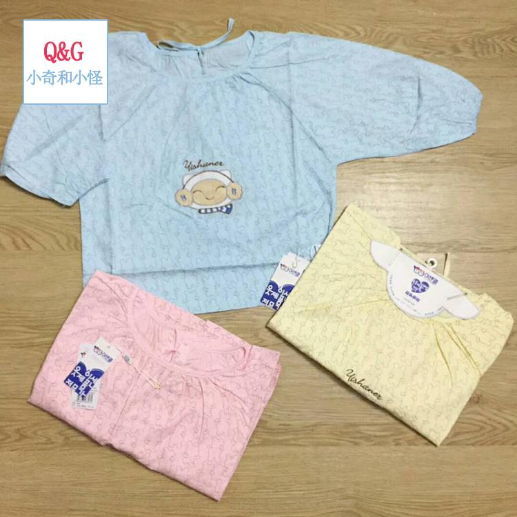 婴幼童吃饭衫大码反穿衣纯棉大码吃饭衣