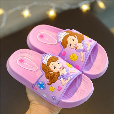 女童拖鞋夏中小童防滑软底卡通可爱公主室内浴室小孩宝宝儿童拖鞋