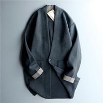 2色 加厚 质感好!男刺绣针织开衫中长款韩版潮流宽松毛衣外套01