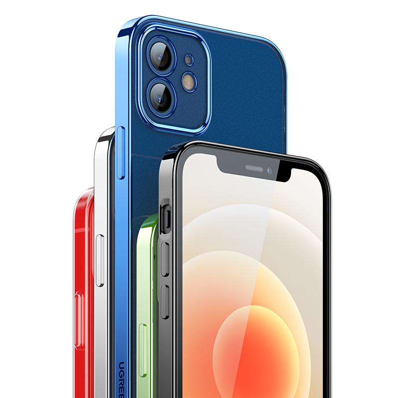 【绿联】苹果12全系列电镀透明壳