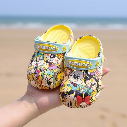 巴布豆童鞋男女宝宝拖鞋软底幼儿夏1-3岁2防滑婴儿凉拖儿童洞洞鞋