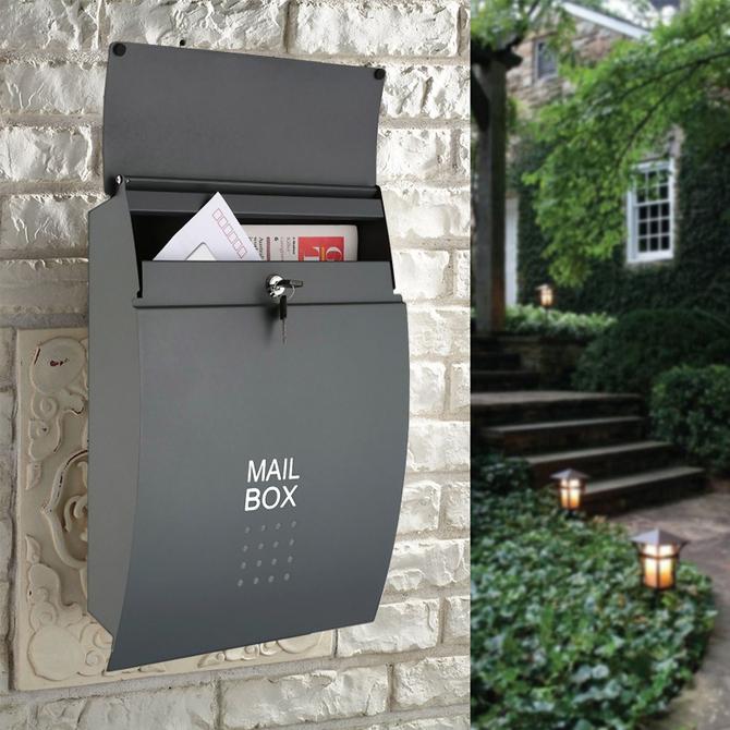 杂志快递建议意见箱挂墙带锁大号创意别墅邮筒信箱 信报箱室外防雨
