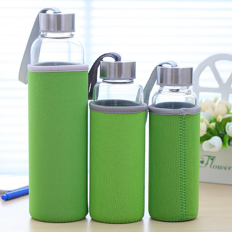 透明玻璃杯大容量泡茶喝水杯子帶有蓋情侶隨手杯學生 便攜水瓶