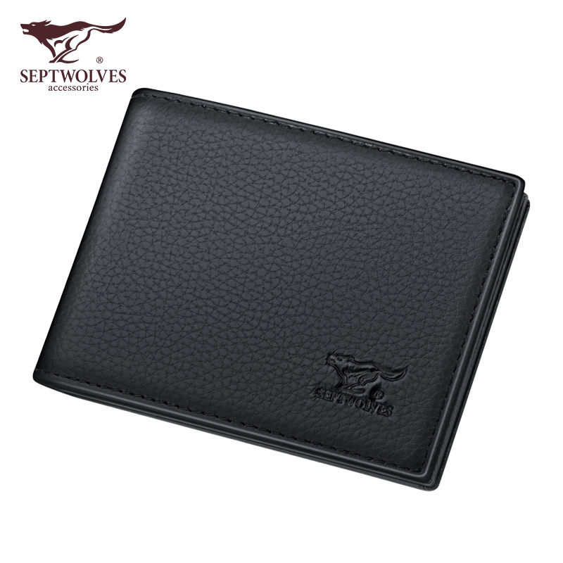 Seven wolf driver's license leather cover men's multi-functional card bag leather driver's license protection card case Thin Wallet integrated certificate