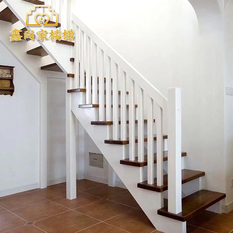Завод прямой Xin Шан дома деревянные лестницы лофт лестницы виллы лестницы красный Дубовая лестница с перилами из дуба