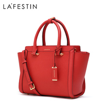 Lafite 2019 new women's hand-held simple bride's wedding bag one shoulder cross arm leather wing big wave