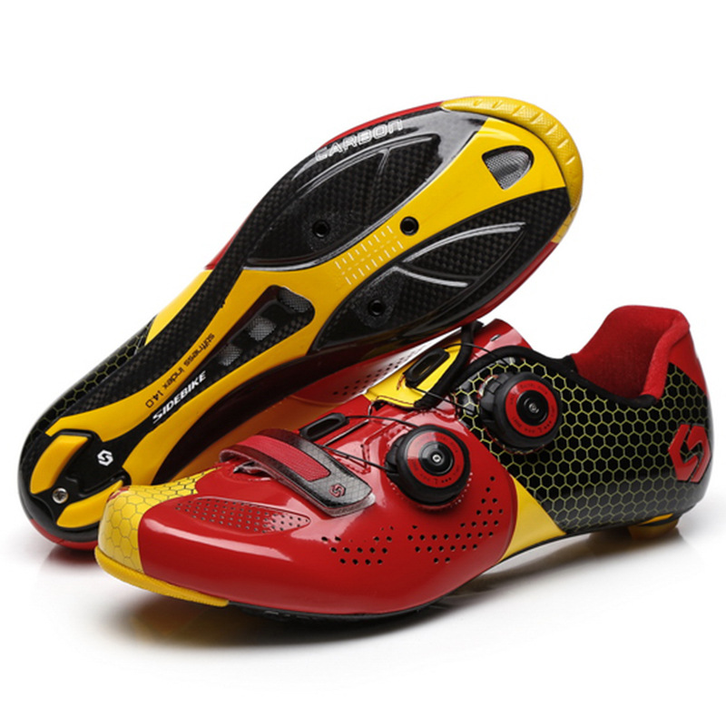 Cycling shoes carbon fiber sidebike track passenger carbon sole professional road bicycle lock shoes mens spinning shoes