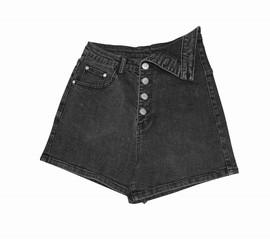 设计感弹力牛仔三分短裤小黑裤 HX91508图片