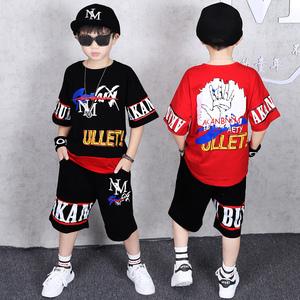 童装男童夏装套装2020新款儿童夏季中大童男孩帅气韩版两件套潮衣
