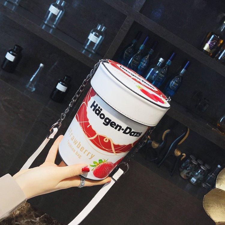 哈根达斯水桶包个性包包女创意百搭冰激凌女斜挎包小挎包烟台一姐