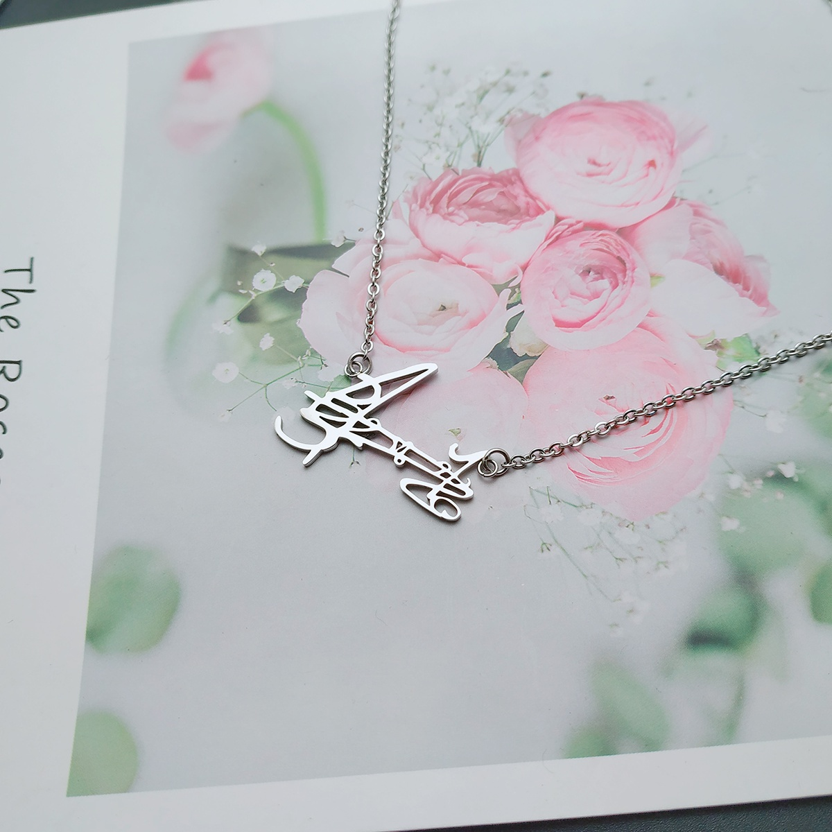 Deyun societys second masters braid Zhang Yunleis signature necklace, supporting pendant, mens and womens clavicle chain
