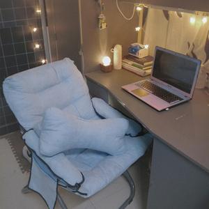 懒人椅单人沙发大学生现代简约宿舍家用电脑椅子休闲靠背书桌躺椅