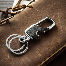 简约男士腰挂钥匙扣创意汽车真皮钥匙链挂件钥匙圈环锁匙扣定制
