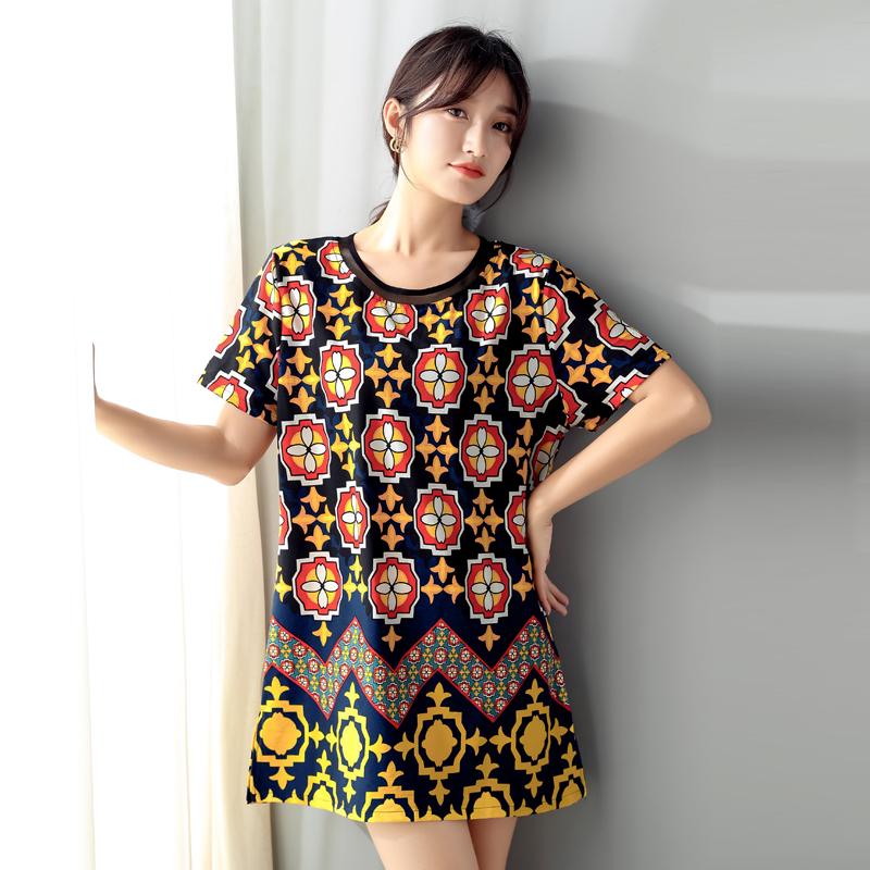 大码女装2019夏装200斤宽松t恤热销3件不包邮