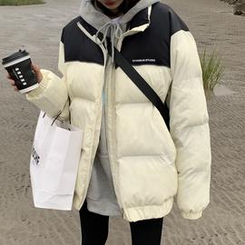 丁丁 拼色棉服女2020冬季韩版宽松oversize棉衣bf风厚实面包服潮图片