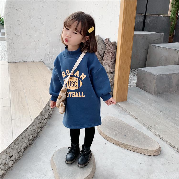 女宝宝上衣秋冬2020童装新款卫衣裙