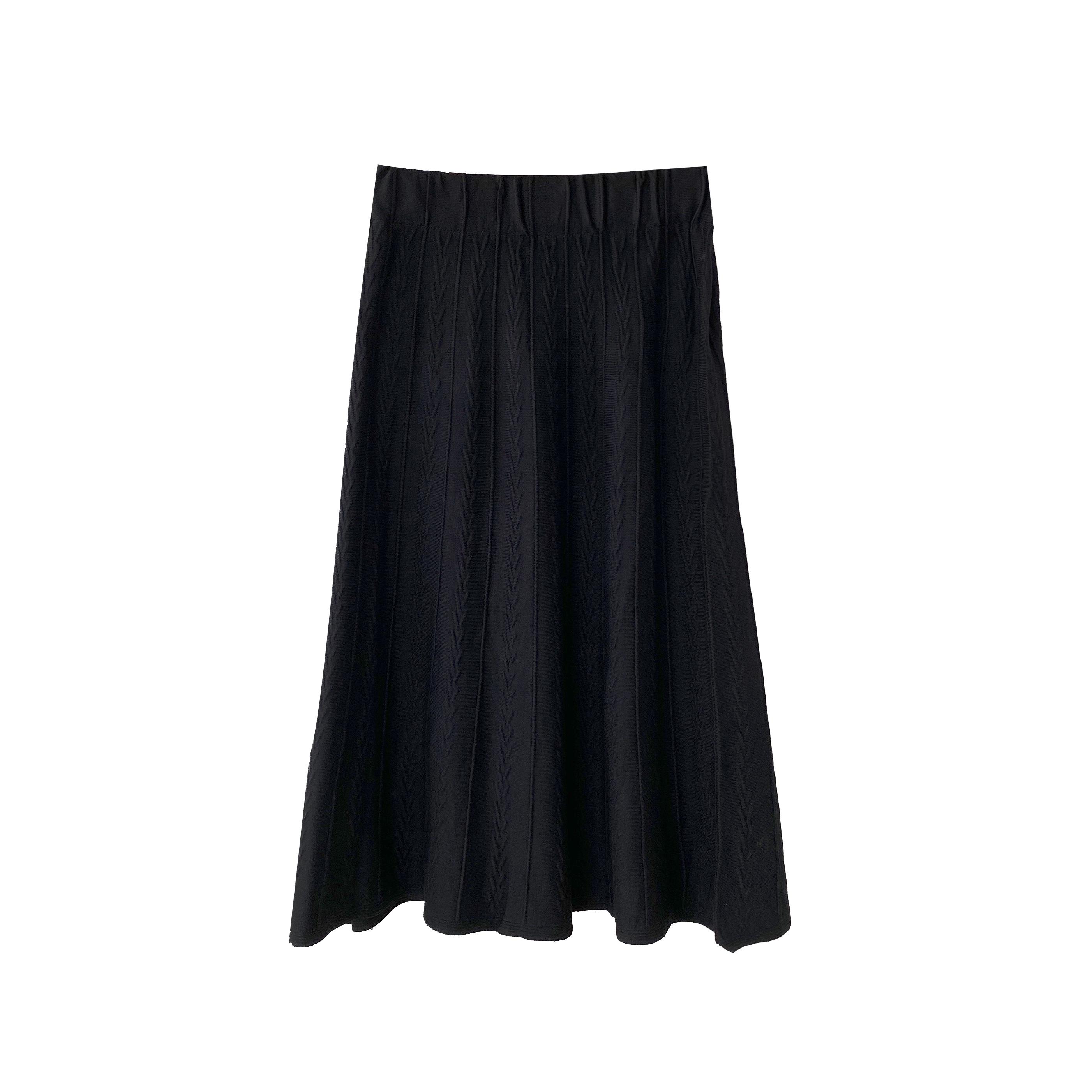 针织半身裙女秋冬2020新款韩版高腰