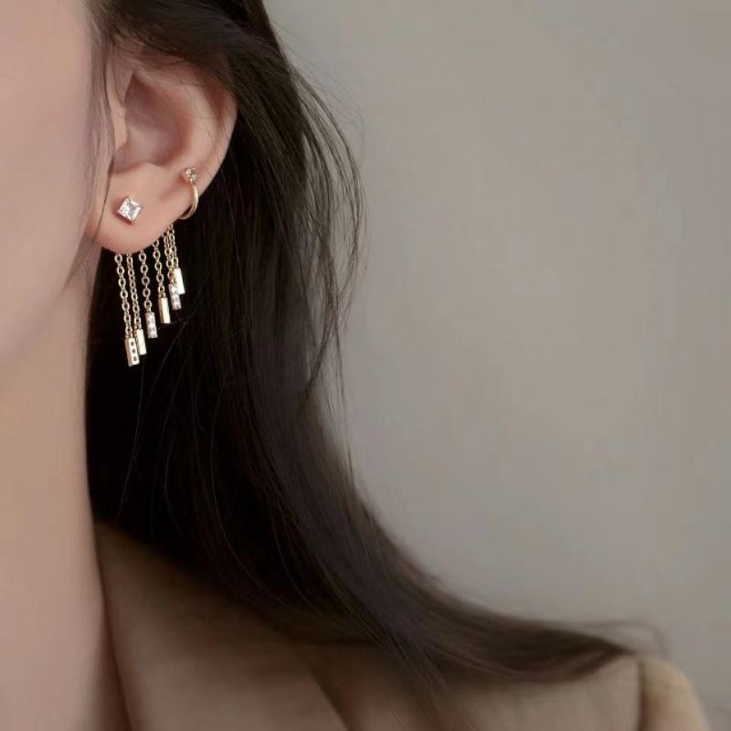 气质长款高级感耳线耳骨夹耳环2021年新款潮韩国网红耳饰女.