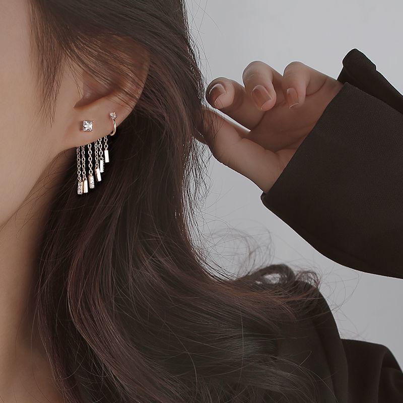 Minority design advanced Earrings Earbone clip female cool wind ear clip pierced earrings