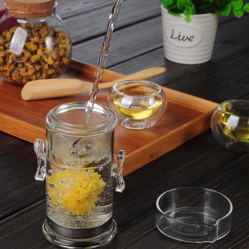 防爆裂耐熱玻璃茶具飄逸杯泡茶壺可拆洗過濾內膽普洱茶杯紅茶杯子