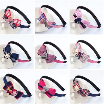 韩国儿童蝴蝶结带齿防滑公主发箍