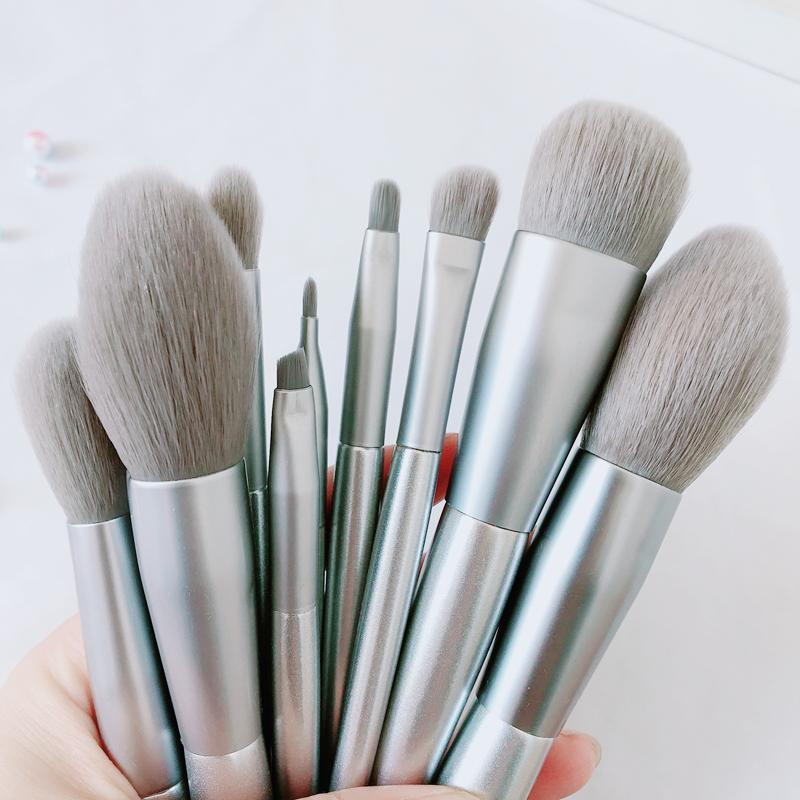 悠亦诗10支8支银雪化妆刷套装全套唇刷眼影腮红散粉刷子美妆工具