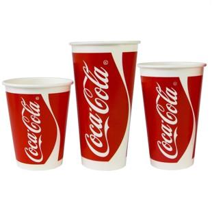 麥當勞可樂杯一次性雙P可樂紙杯加厚1000個可口可樂500毫升帶蓋